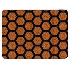 Hexagon2 Black Marble & Rusted Metal Samsung Galaxy Tab 7  P1000 Flip Case by trendistuff