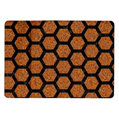 Hexagon2 Black Marble & Rusted Metal Samsung Galaxy Tab 10 1  P7500 Flip Case by trendistuff