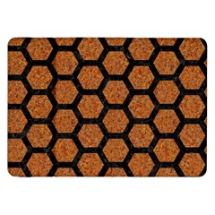 Hexagon2 Black Marble & Rusted Metal Samsung Galaxy Tab 8 9  P7300 Flip Case by trendistuff