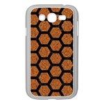 HEXAGON2 BLACK MARBLE & RUSTED METAL Samsung Galaxy Grand DUOS I9082 Case (White) Front