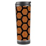 HEXAGON2 BLACK MARBLE & RUSTED METAL Travel Tumbler Left