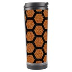 HEXAGON2 BLACK MARBLE & RUSTED METAL Travel Tumbler Center