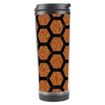 HEXAGON2 BLACK MARBLE & RUSTED METAL Travel Tumbler Right