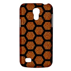 Hexagon2 Black Marble & Rusted Metal Galaxy S4 Mini by trendistuff