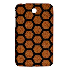 Hexagon2 Black Marble & Rusted Metal Samsung Galaxy Tab 3 (7 ) P3200 Hardshell Case  by trendistuff