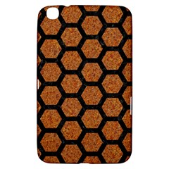 Hexagon2 Black Marble & Rusted Metal Samsung Galaxy Tab 3 (8 ) T3100 Hardshell Case  by trendistuff
