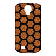 Hexagon2 Black Marble & Rusted Metal Samsung Galaxy S4 Classic Hardshell Case (pc+silicone) by trendistuff