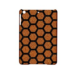 Hexagon2 Black Marble & Rusted Metal Ipad Mini 2 Hardshell Cases