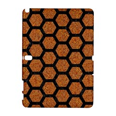 Hexagon2 Black Marble & Rusted Metal Galaxy Note 1 by trendistuff