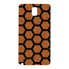 Hexagon2 Black Marble & Rusted Metal Samsung Galaxy Note 3 N9005 Hardshell Back Case by trendistuff