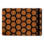 HEXAGON2 BLACK MARBLE & RUSTED METAL Samsung Galaxy Tab Pro 10.1  Flip Case Front