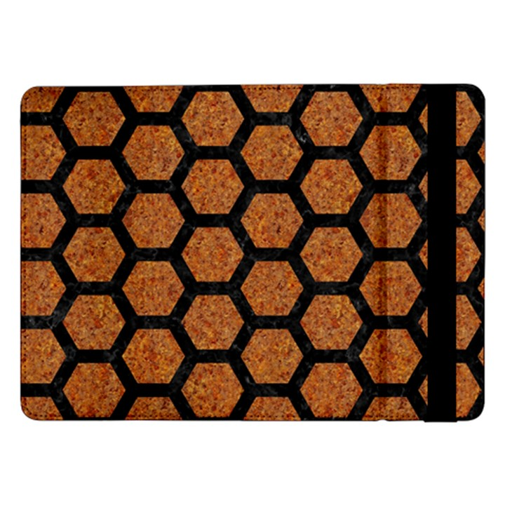 HEXAGON2 BLACK MARBLE & RUSTED METAL Samsung Galaxy Tab Pro 12.2  Flip Case
