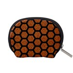 HEXAGON2 BLACK MARBLE & RUSTED METAL Accessory Pouches (Small)  Back