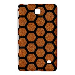 Hexagon2 Black Marble & Rusted Metal Samsung Galaxy Tab 4 (8 ) Hardshell Case  by trendistuff
