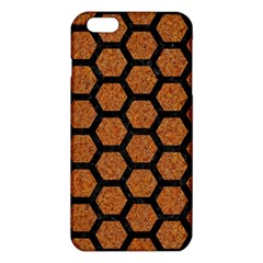 Hexagon2 Black Marble & Rusted Metal Iphone 6 Plus/6s Plus Tpu Case