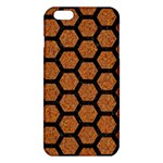 HEXAGON2 BLACK MARBLE & RUSTED METAL iPhone 6 Plus/6S Plus TPU Case Front