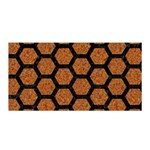 HEXAGON2 BLACK MARBLE & RUSTED METAL Satin Wrap Front