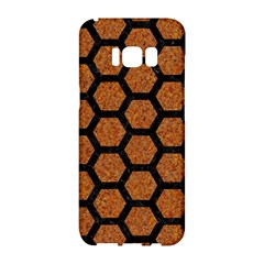 Hexagon2 Black Marble & Rusted Metal Samsung Galaxy S8 Hardshell Case  by trendistuff
