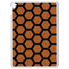 Hexagon2 Black Marble & Rusted Metal Apple Ipad Pro 9 7   White Seamless Case