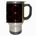 HEXAGON2 BLACK MARBLE & RUSTED METAL (R) Travel Mug (Silver Gray) Right