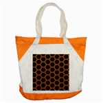 HEXAGON2 BLACK MARBLE & RUSTED METAL (R) Accent Tote Bag Front