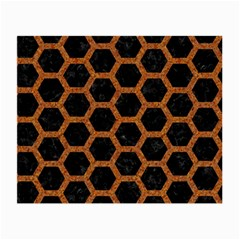 Hexagon2 Black Marble & Rusted Metal (r) Small Glasses Cloth (2 Side)