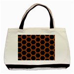 HEXAGON2 BLACK MARBLE & RUSTED METAL (R) Basic Tote Bag (Two Sides) Back