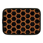 HEXAGON2 BLACK MARBLE & RUSTED METAL (R) Netbook Case (Medium)  Front