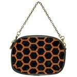 HEXAGON2 BLACK MARBLE & RUSTED METAL (R) Chain Purses (Two Sides)  Back