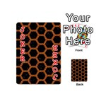 HEXAGON2 BLACK MARBLE & RUSTED METAL (R) Playing Cards 54 (Mini)  Front - Joker2