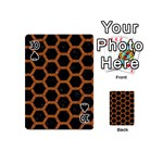 HEXAGON2 BLACK MARBLE & RUSTED METAL (R) Playing Cards 54 (Mini)  Front - Spade10