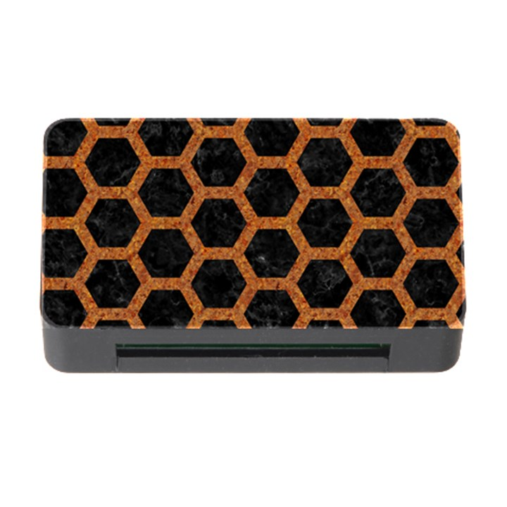 HEXAGON2 BLACK MARBLE & RUSTED METAL (R) Memory Card Reader with CF