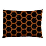 HEXAGON2 BLACK MARBLE & RUSTED METAL (R) Pillow Case (Two Sides) Front