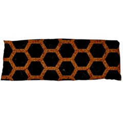 Hexagon2 Black Marble & Rusted Metal (r) Body Pillow Case (dakimakura)