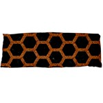 HEXAGON2 BLACK MARBLE & RUSTED METAL (R) Body Pillow Case (Dakimakura) Body Pillow Case