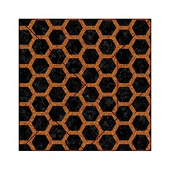 Hexagon2 Black Marble & Rusted Metal (r) Acrylic Tangram Puzzle (6  X 6 ) by trendistuff