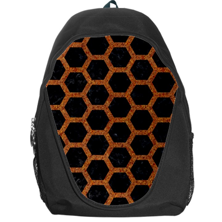 HEXAGON2 BLACK MARBLE & RUSTED METAL (R) Backpack Bag