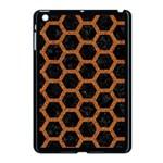HEXAGON2 BLACK MARBLE & RUSTED METAL (R) Apple iPad Mini Case (Black) Front
