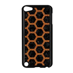 Hexagon2 Black Marble & Rusted Metal (r) Apple Ipod Touch 5 Case (black)