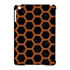 Hexagon2 Black Marble & Rusted Metal (r) Apple Ipad Mini Hardshell Case (compatible With Smart Cover) by trendistuff