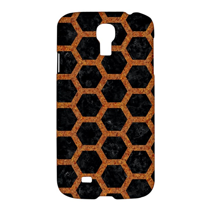 HEXAGON2 BLACK MARBLE & RUSTED METAL (R) Samsung Galaxy S4 I9500/I9505 Hardshell Case