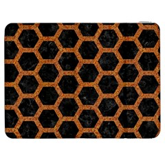 Hexagon2 Black Marble & Rusted Metal (r) Samsung Galaxy Tab 7  P1000 Flip Case by trendistuff