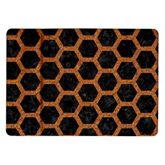 Hexagon2 Black Marble & Rusted Metal (r) Samsung Galaxy Tab 10 1  P7500 Flip Case by trendistuff