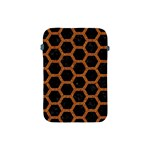 HEXAGON2 BLACK MARBLE & RUSTED METAL (R) Apple iPad Mini Protective Soft Cases Front