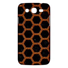 Hexagon2 Black Marble & Rusted Metal (r) Samsung Galaxy Mega 5 8 I9152 Hardshell Case