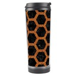 HEXAGON2 BLACK MARBLE & RUSTED METAL (R) Travel Tumbler Center