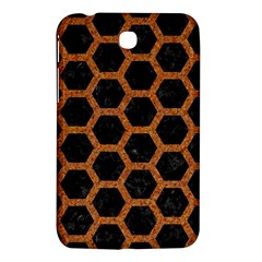 Hexagon2 Black Marble & Rusted Metal (r) Samsung Galaxy Tab 3 (7 ) P3200 Hardshell Case  by trendistuff
