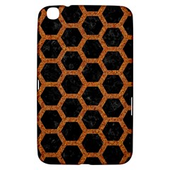 Hexagon2 Black Marble & Rusted Metal (r) Samsung Galaxy Tab 3 (8 ) T3100 Hardshell Case  by trendistuff