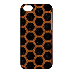 Hexagon2 Black Marble & Rusted Metal (r) Apple Iphone 5c Hardshell Case