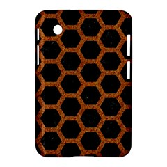 Hexagon2 Black Marble & Rusted Metal (r) Samsung Galaxy Tab 2 (7 ) P3100 Hardshell Case  by trendistuff
